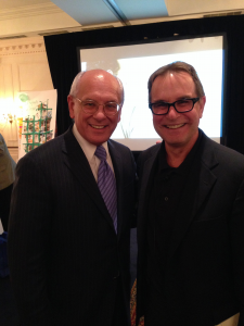US Congressman Paul Tonko and David Cooperrider during the Appreciative Inquiry Summit in Tech Valley